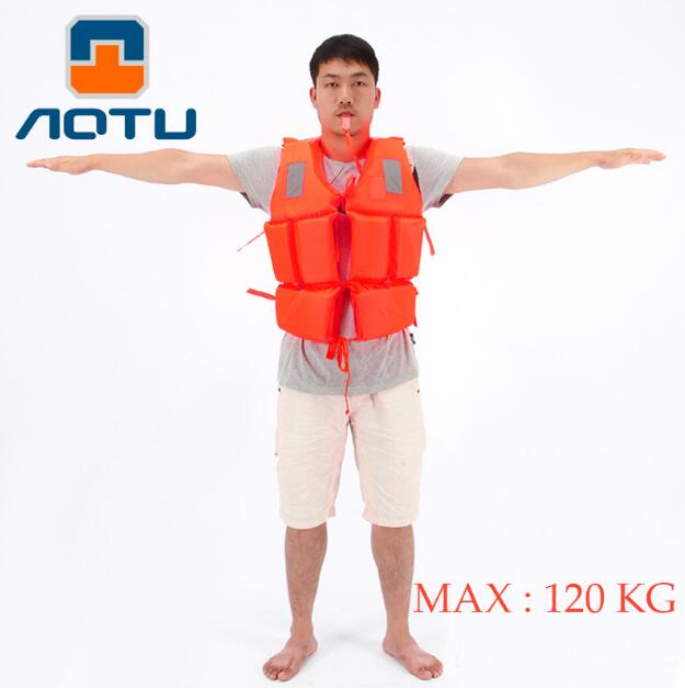 AOTU Brand Polyester Adult Life Jacket Universal Swimming Boating Ski Drifting Foam Vest with Whistle Prevention(China (Mainland))