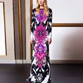 Autumn Women s new Dress Newest Popper Print Long Dress Mopping the floor Dress
