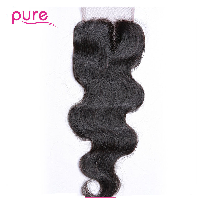 8A Wavy Lace Closure Mink Mongolian Virgin Hair Body Wave Lace Closure Bleached Knots,4X4 Closure Mongolian Wavy with Baby Hair<br><br>Aliexpress