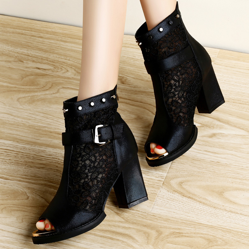 Guciheaven 2014 spring new women 39 s sandals thick with for Fish head shoes