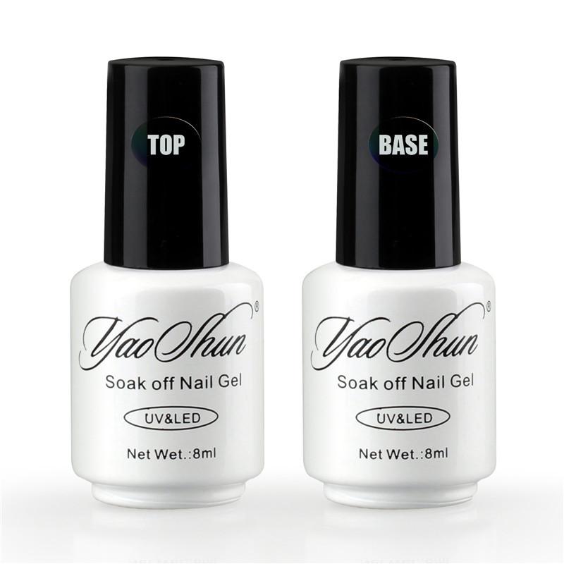 YAOSHUN Nail Gel Polish LED UV Gel Varnish Base Gel Top Coat 8ml Finish Cover Gel Polish Clear Color