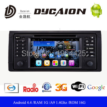 Pure Android 4.4.4 DVD player for BMW E39 5 Series dvd with 1.6G Quad Core CPU 1024x600 IPS Capacitive Screen 16GB ROM 1G RAM(China (Mainland))