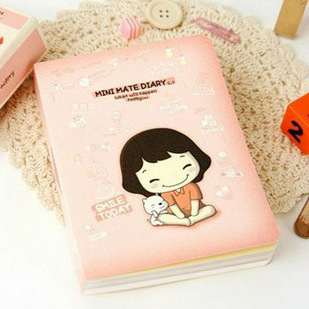 Min order $ 10 free shipping Cute cook girl student stationery planned schedule notepad paper notebook(China (Mainland))