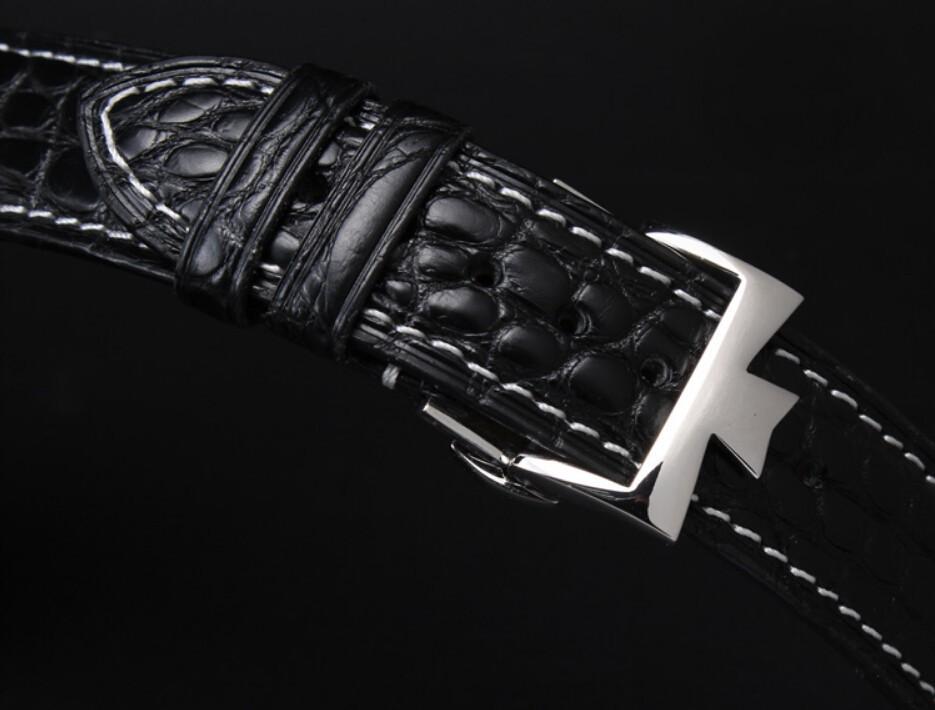 Часы полоса 18 мм 19 мм 20 мм 21 мм 22 мм черный из натуральной кожи крокодила ремешок группа браслеты Deplolyment часы пряжка