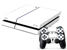 Pure White PS4 Sticker PS4 Skin PS4 Stickers For Playstation 4+ 2Pcs Controller Skin Console Stickers PS4 Protective Skin