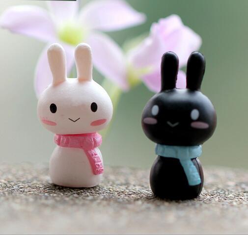 wholesale 50pieces Mini Rabbit Ornament Miniature Figurine Plant Pot Garden Decor Toys Home Crafts Classic Art Collectible(China (Mainland))