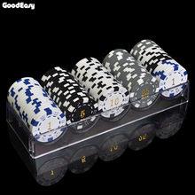 100 Pcs-1000 Pcs/set 12 Denominasi 11.5 G/pcs ABS Penyepuhan Chip Poker Koin Texas Hold'em Poker Game Kawan-kawan Poker chip Set(China)