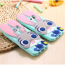 Samsung Galaxy 2015 A5 A7 J1/ACE/mini J2 J5 J7 E5 E7/2016 A3 J1 3D Cute ZOOTOPIA Rabbit Judy Silicon Case Capa - May Day Store store