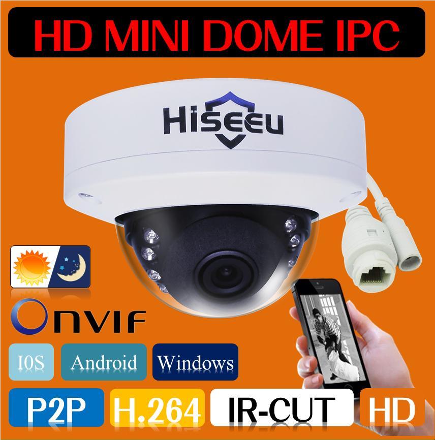 Freeshipping HD Mini Camera Security CCTV Camera Network IP Camera IR Dome Cam 1MP 720P-2MP 1080P Android IOS Remote ONVIF H.264(China (Mainland))