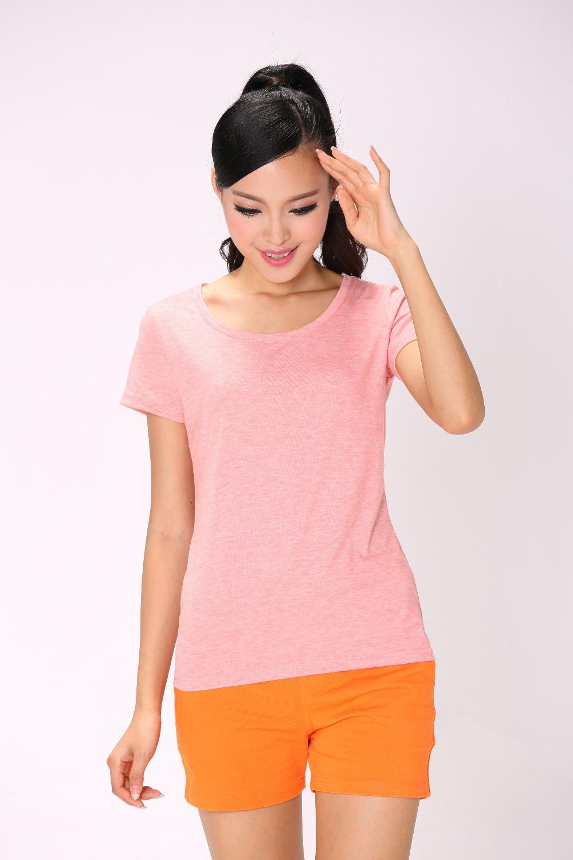 roupa de academia feminino 2014 mom and daughter set cotton blank t-shirts camisas femininas ropa mujer plain tee shirt(China (Mainland))