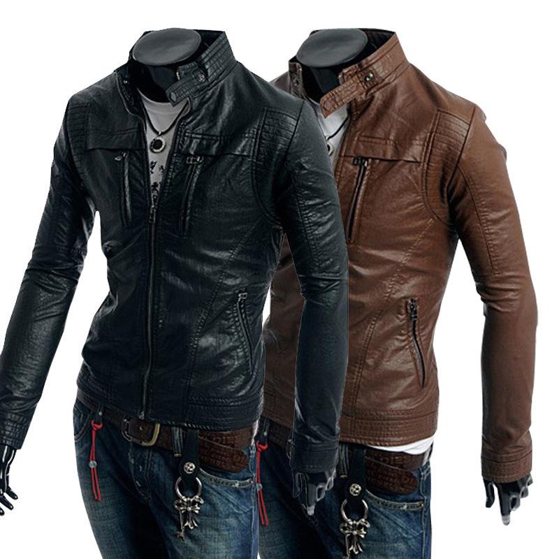 2015 Leather Type Biker Jacket Explosion Models Leather ...