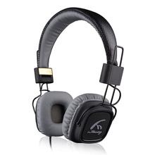 GOESTIME COOL! Genuine leather headphone With Mic Deep Bass HiFi Headset DJ Hi-Fi Headphone Professional DJ Headphone(China (Mainland))