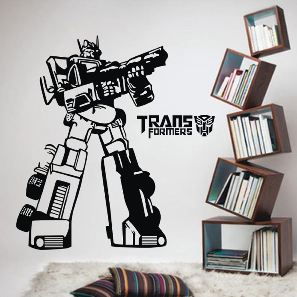 Online get cheap transformers wall decals for Cheap wall mural decals
