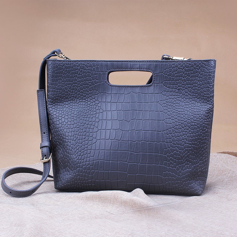 2016 Newset Alligator Bags For Women Business Crossbody Bags Totes Cattle Split Leather OL Commuter Bags For Working Ladies(China (Mainland))
