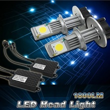 Pair 12V/24V 6000K Car Truck Motorcycle 50W H4 1800LM LED Head Light Headlight Lamp White Beam High Low - Awesome For You Co.,Ltd. store
