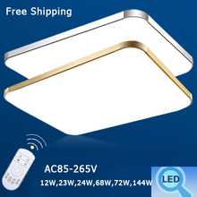 Surface Mounted Modern Rectangle Led Ceiling Light For Living Room Light Fixture Home Lighting Decorative Acryl Lampshade AC110V(China (Mainland))