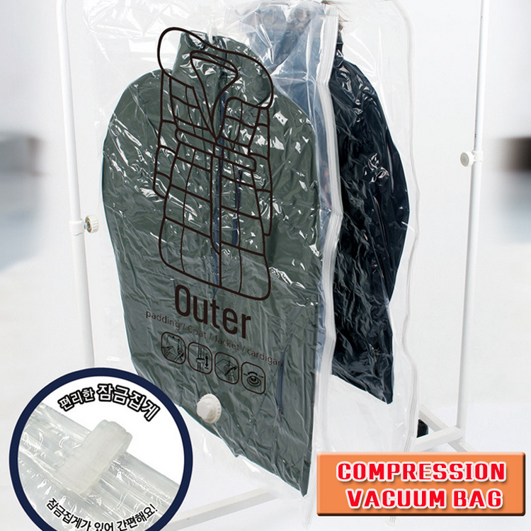 New Storage high quality Hanging vacuum storage bag space and dustproof bag with hanger 40*60cm(China (Mainland))