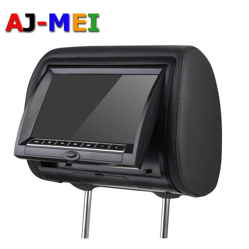 2016 Latest Popular 2x 9 inch Universal Car Headrest DVD Player Support SD USB FM TV Games Video Player With Zipper Packing(China (Mainland))
