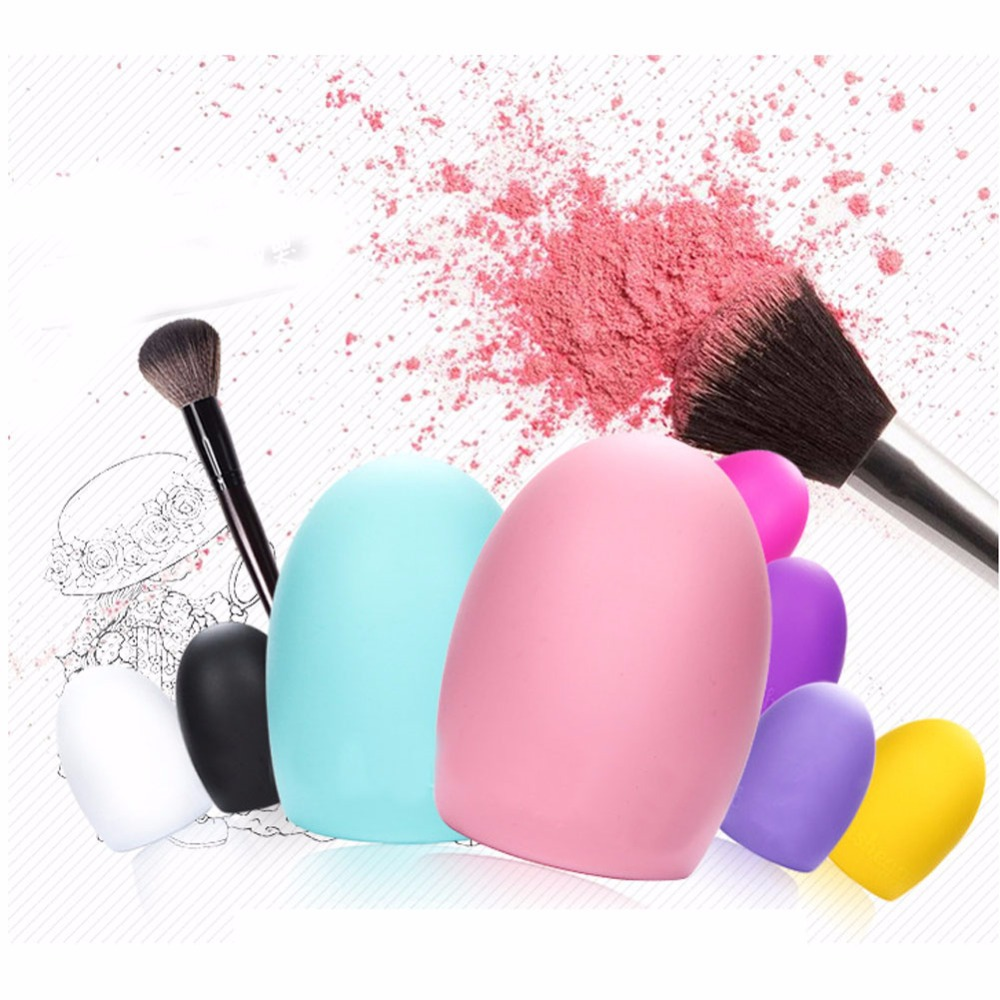 2016 New Portable Cleaning Cosmetic Makeup Brush Foundation Brush Silicone Cleaner Tool Free Shipping F#OS