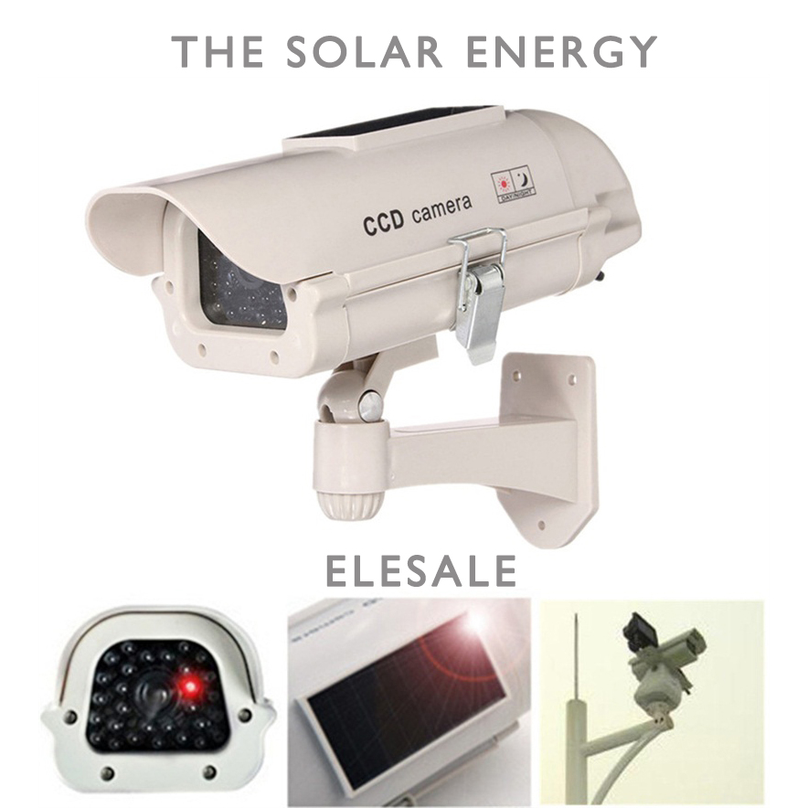 The solar energy Waterproof Fake Camera Two AA Battery LED Dummy Security Camera Ir Led Dome Camera Surveillance Camera ELESALE(China (Mainland))
