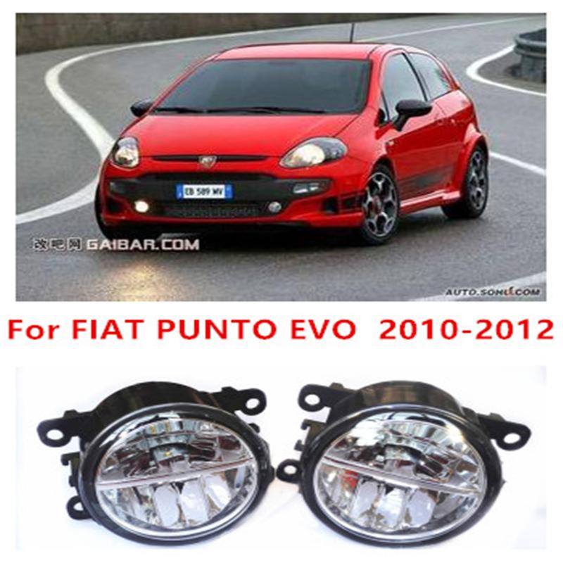 For FIAT PUNTO EVO  2010-2012  10W Fog Light LED DRL Daytime Running Lights Car Styling<br><br>Aliexpress