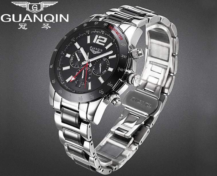 Origianl GUANQIN Waterproof Luminous Sport Watch Mens Top Brand Luxury Automatic Mechanical Men Watch Relogios Masculino
