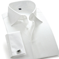 Hot Sale Designer French Cuff Dress Shirt Men White Long Sleeve Camisa Masculina High Quality Brand