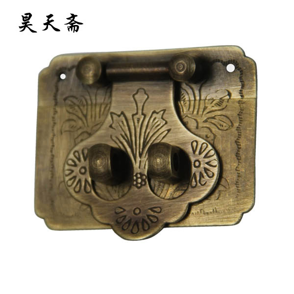 [Haotian vegetarian] Chinese antique jewelry box antique fittings copper box buckle clasp HTN-080<br><br>Aliexpress