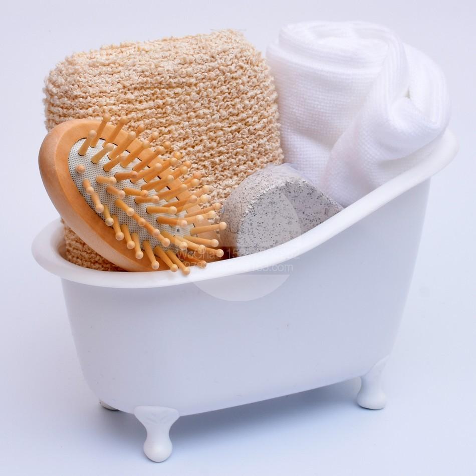Set De Baño Bambu Dupree: sets mini bañera Baño De Almacenamiento conjunto blanco set de baño