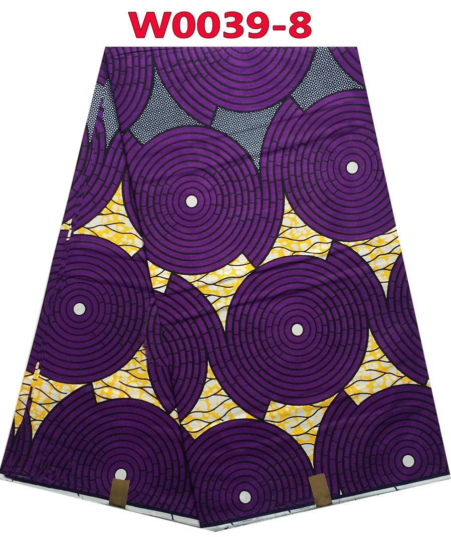 Guaranteed high quality prints Nigeria real super wax hollandais wax African clothing 100% cotton fabric W0039-8(China (Mainland))