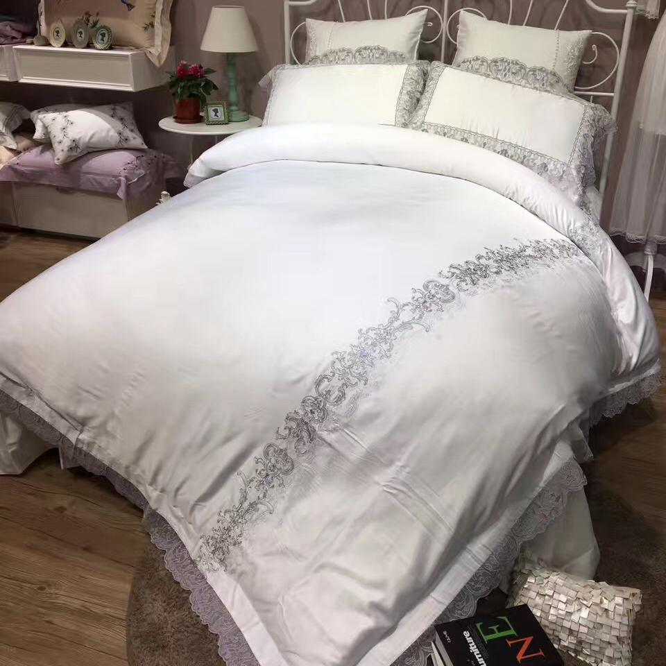 Comparer les prix sur romantic bed set online shopping for Housse de couette style romantique