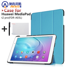 """Buy Smart slim PU stand cover case protective leather skin Huawei MediaPad t2 pro 10"""" (FDR-A03L) tablet protective leather skin for $9.99 in AliExpress store"""