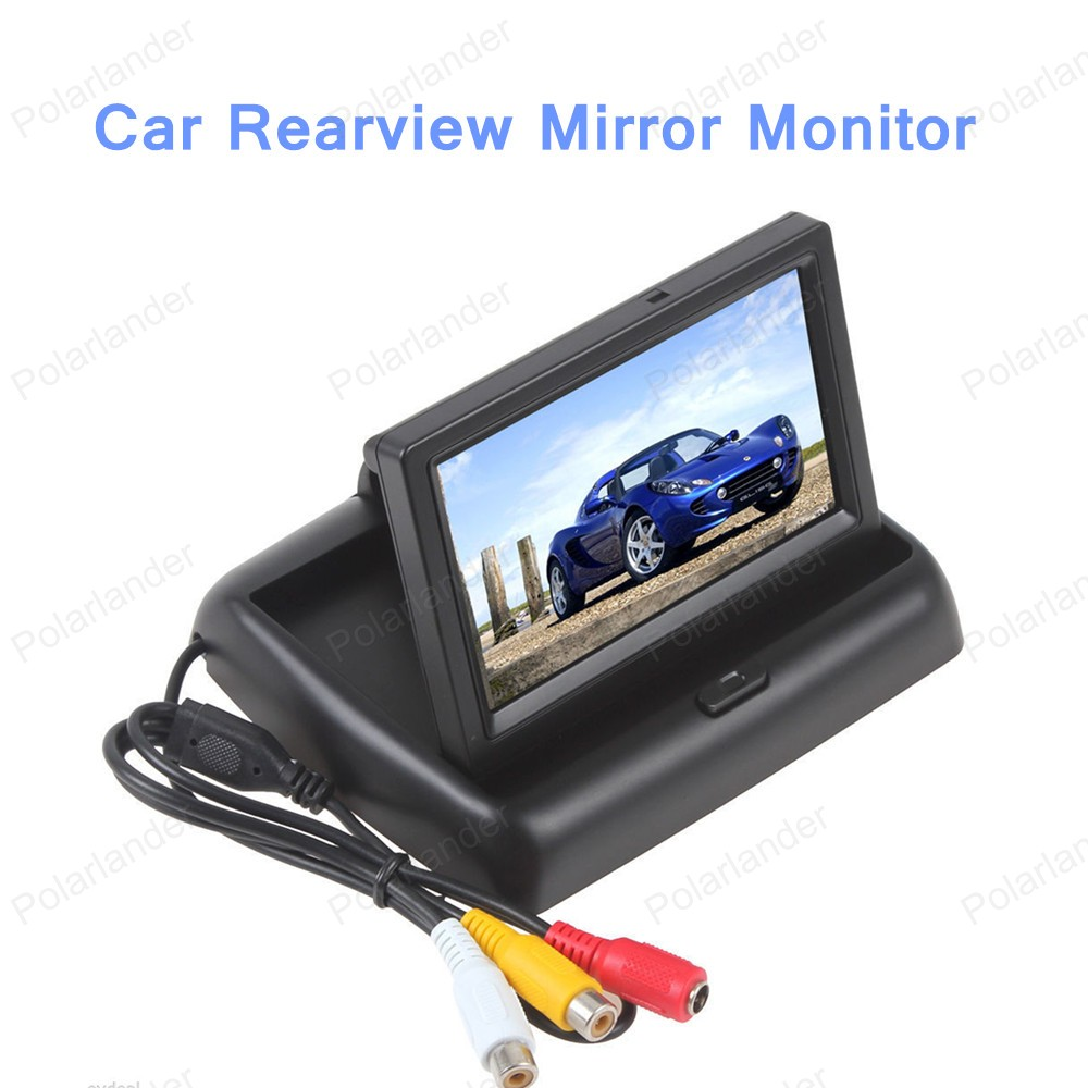 hot sell CCD HD 4.3 inch Car Rearview Mirror Monitor Waterproof Parking Monitors System with Car Rear View Camera(China (Mainland))
