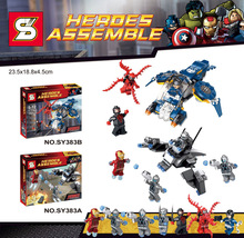 SY383 Super Heroes The Avengers heros Assemble Iron man Big Action Figures Minifigure Children Toys Compatible With Lego 76036