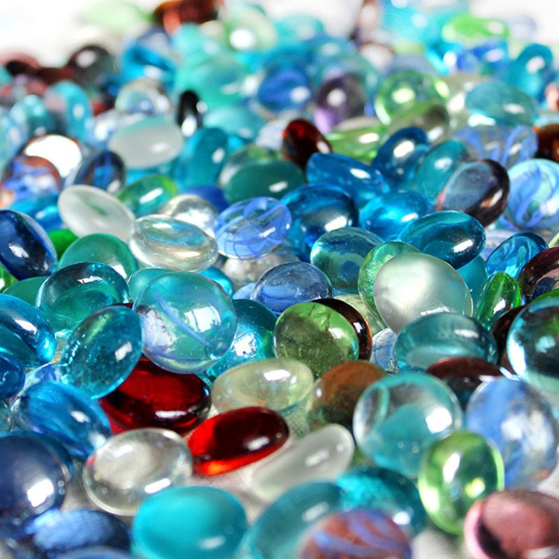 Natural aquarium decoration promotion shop for promotional - Glass stones for fish tanks ...