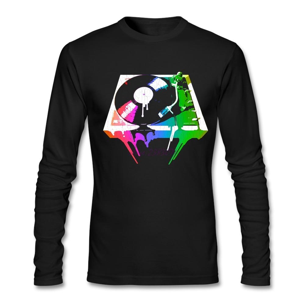 Design t shirt uk - Man Full Sleeves Random T Shirts Personality Melting Turntable Tees Men 100 Cotton Apearl Customized T Shirts Uk