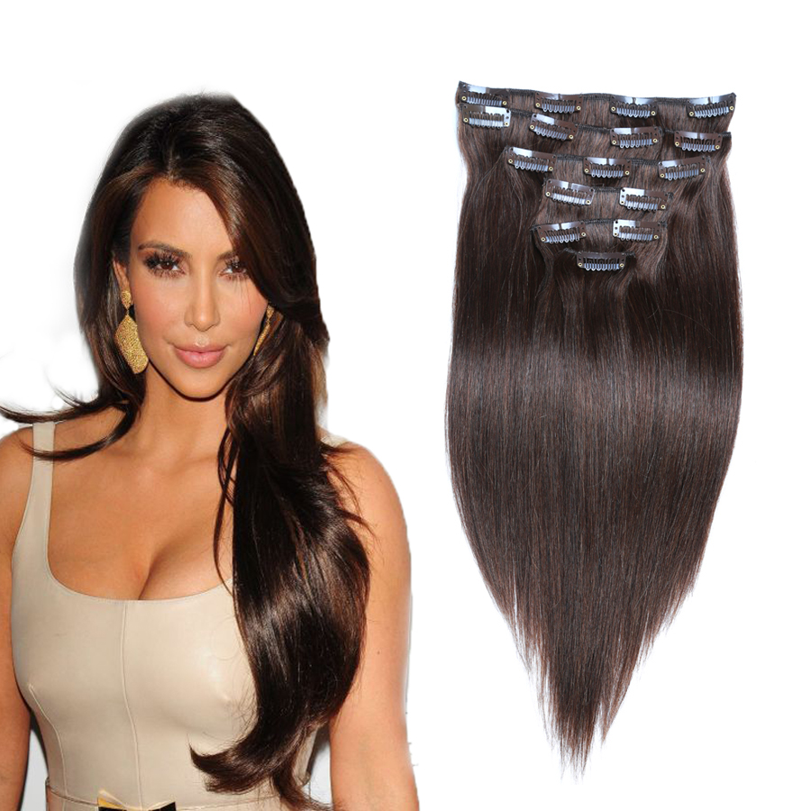 26 Inch Clip In Human Hair Extensions - Styling Hair ...