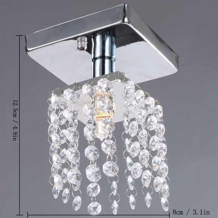 The entrance guard corridor lamp crystal  ceiling lamps Yangtou modern minimalist small crystal Ceiling Lights <br><br>Aliexpress