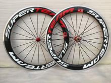 Buy 700C Aluminum Brake Carbon Wheels Bicycle Wheelset 60mm Clincher Alloy Braking Road Bike Wheels 23mm width for $389.00 in AliExpress store