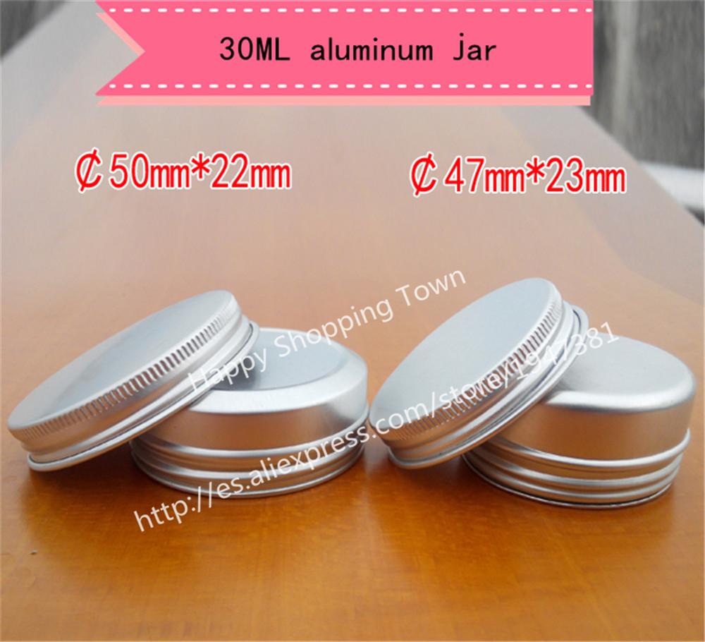 Free shipping50 x 30g aluminum jar, 30 gram metal cream jar, 1 oz silver aluminum case, 30 g metal cosmetic container