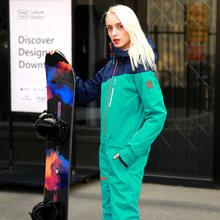 Berjalan Sungai Merek Tahan Air Jaket untuk Wanita Snowboard Jas Wanita Snowboard Jaket Wanita Snowboarding Set Pakaian # B8091(China)