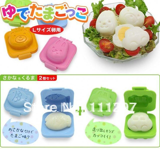 wholesale free shipping 6 designs Sushi Rice Mold Mould Seaweed Cutter Bento plastic cake chocolate icecream egg