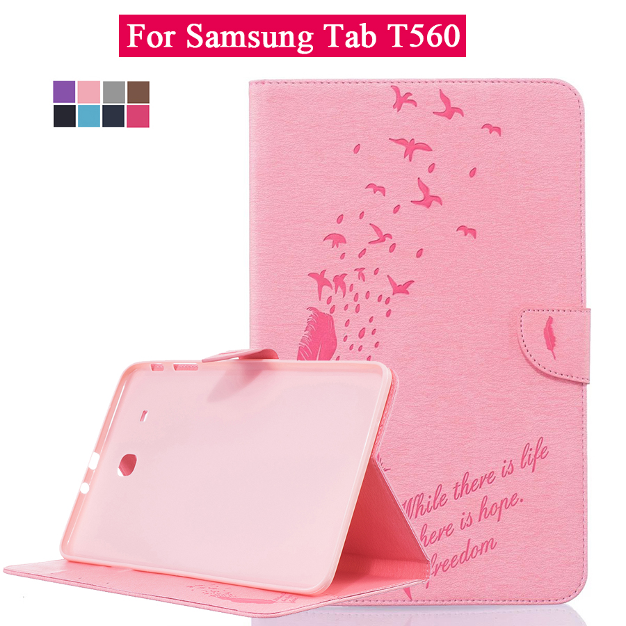 For Samsung Cheap Tablets Tab 9.6 T560 T561 SM-T560 SM-T561 9.6 Inch Tablet Magnet Buckle PU Leather Wallet Cover Stand Shell(China (Mainland))