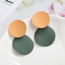 Handmade Irreguale Geometric Earrings For Women Vintage Retro Round Earrings Personalized Statement Bohemian Jewelry(China)