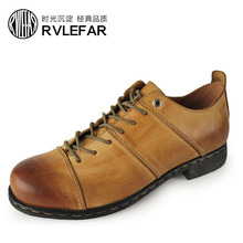 OTTO Top Quality Handmade Oxford Shoes Fashion Genuine Full Grain Retro Cow Leather Casual For Men Business Ankle Boots(China (Mainland))