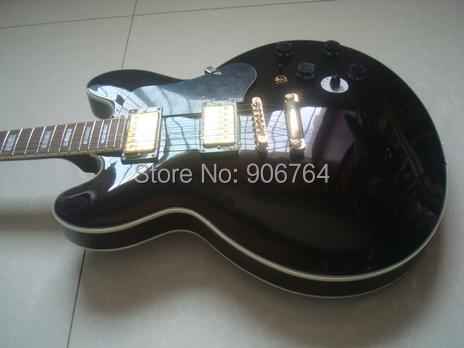 NEW G custom BBKING electric guitar black pickguard solod wood free shipping instock rosewood fretboard(China (Mainland))