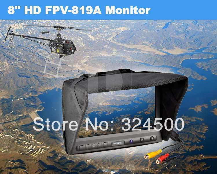 Feelworld 8 inch LCD HD Monitor for FPV Video Camera RC Helicopter Multicopter No Blue Screen OSD Airplane & Radio Control Plane(China (Mainland))