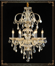 European Luxury Crystal Chandeliers  Villa Chandelier  Penthouse Stairs Crystal Chandelier Light Lighting +Free shipping!(China (Mainland))
