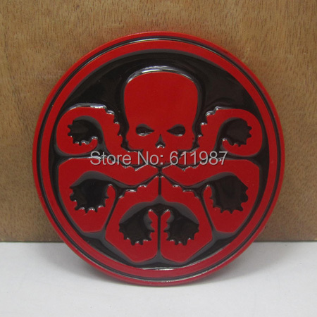BuckleHome Avengers Captain America Hydra red skull belt buckle FP-03513 with red coating free shipping(China (Mainland))