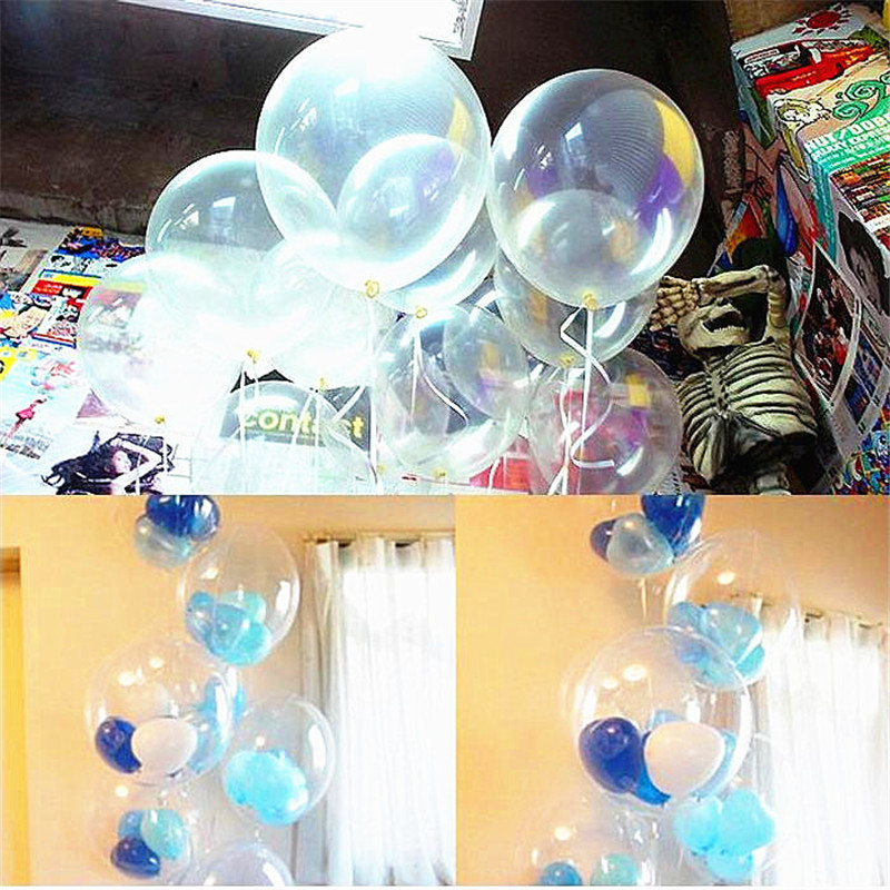 1010 inch Clear Latex Balloons Pearl Transparent Helium Balloon Birthday Party Wedding Decoration Toy  -  honest fish's store store